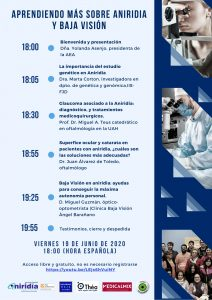 Programa conferencia aniridia 2020