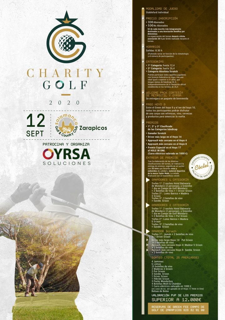 Cartel Torneo Charity Golf 2020