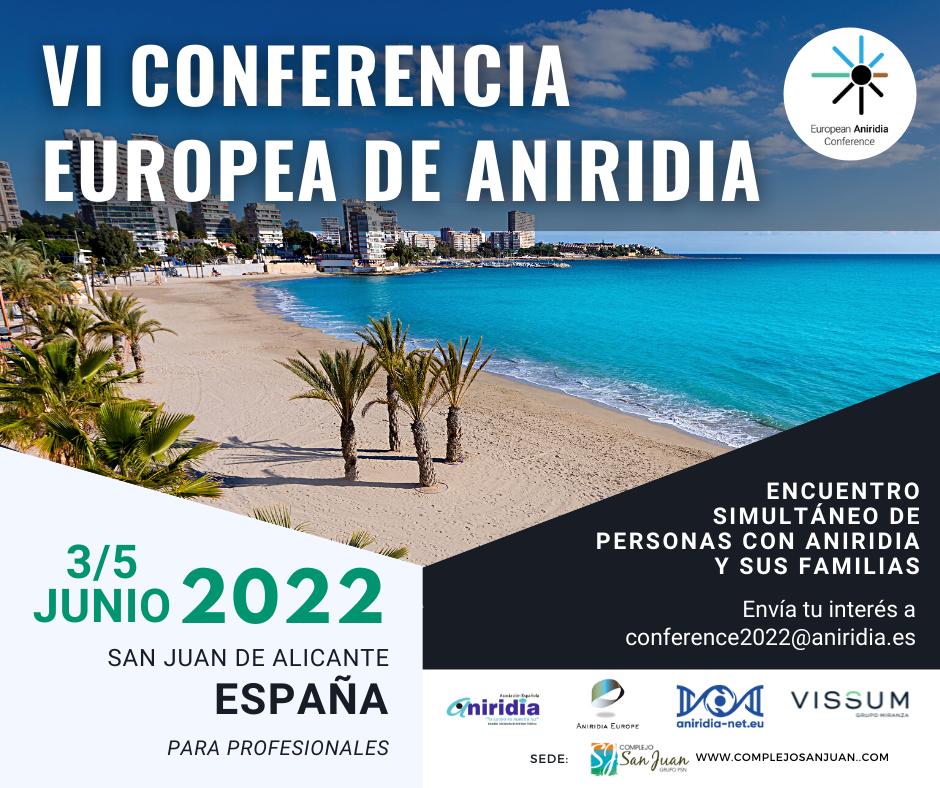 Sexta conferencia europea de aniridia 2022